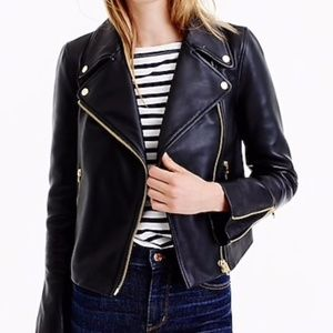J.Crew Mercantile Womens Canvas Motorcycle Jacket